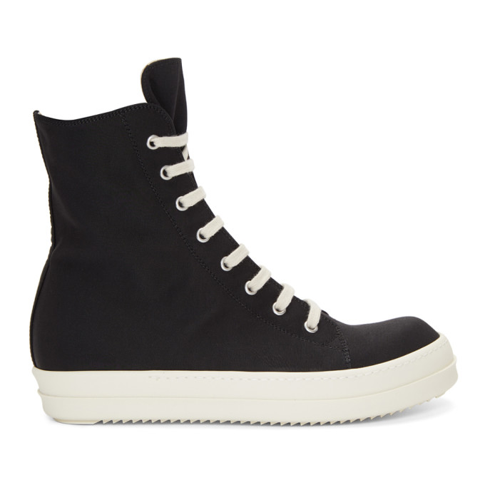 Rick Owens Drkshdw Black Vegan High-Top Sneakers