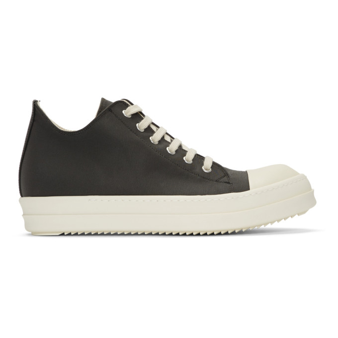 Rick Owens Drkshdw Black Canvas Low Sneakers