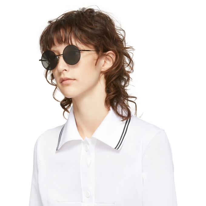 cba52d45a1a0e Shop Acne Studios Black Scientist Sunglasses In Black Satin