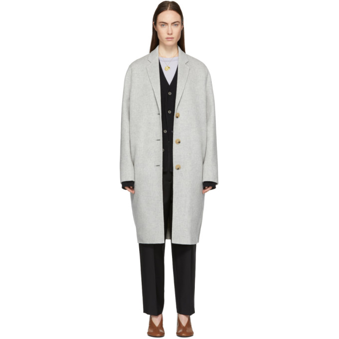 ACNE STUDIOS GREY AVALON COAT