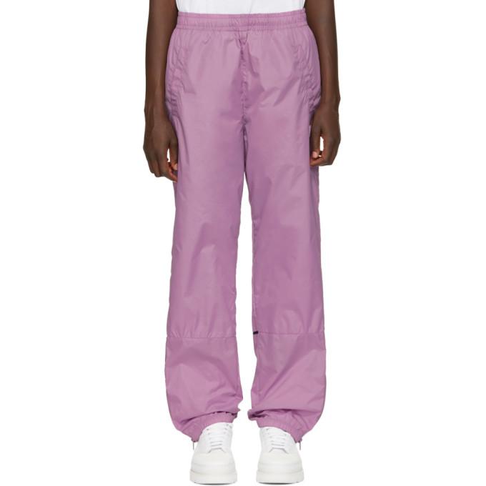 Acne Studios Purple Nylon Face Lounge Pants