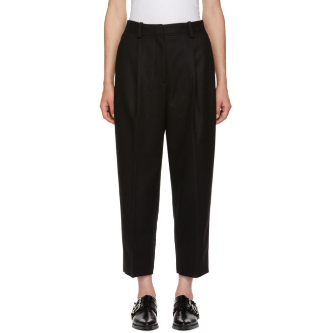 Flannel Trousers Black