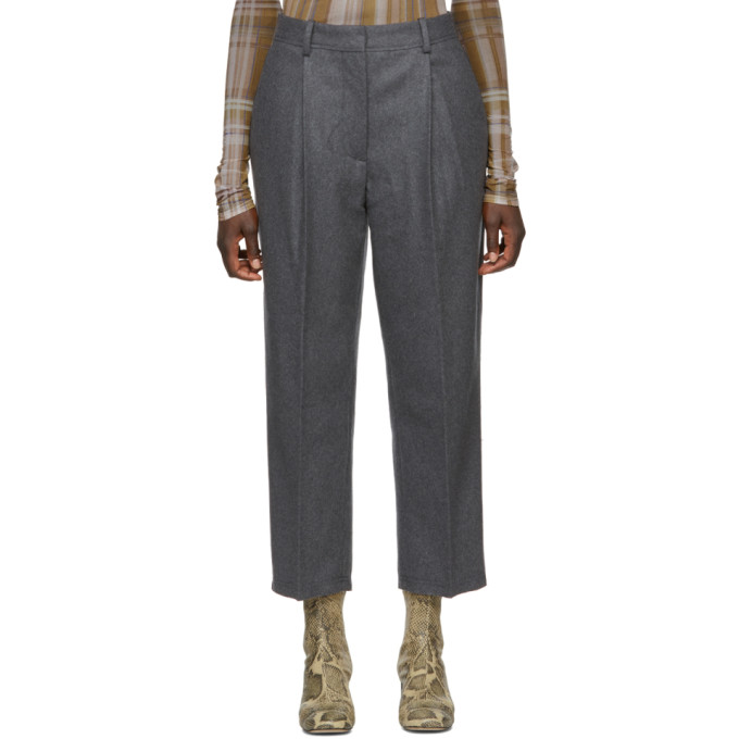 5b89e00e1949 Acne Studios Grey Wool Ryder Trousers