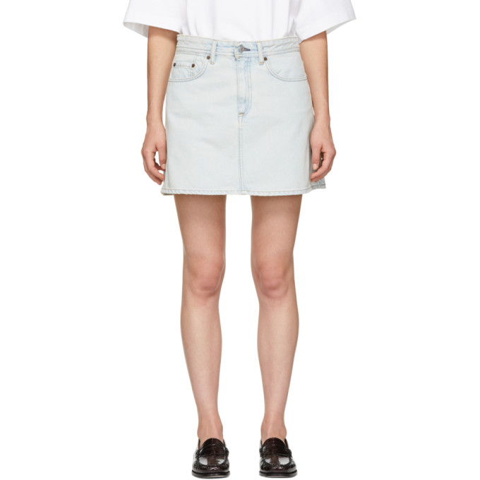 Acne Studios Blue Blå Konst Denim Mini Skirt