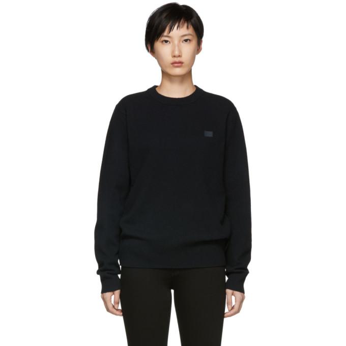 Acne Studios Black Nalon Face Sweater