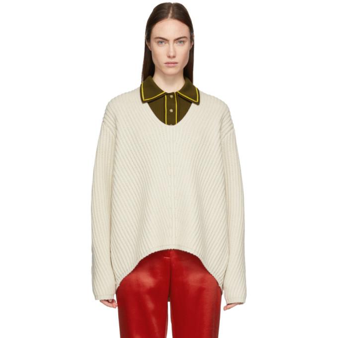 Deborah Oversized Wool Sweater in Cold Beige