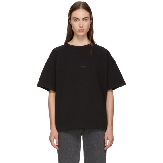 Acne Studios Black Stellie Logo T Shirt