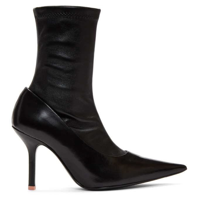 Acne Studios Black Leather Sock Heel