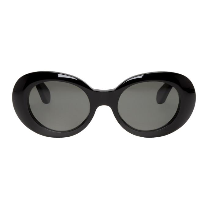 Acne Studios Black Mustang Round Sunglasses