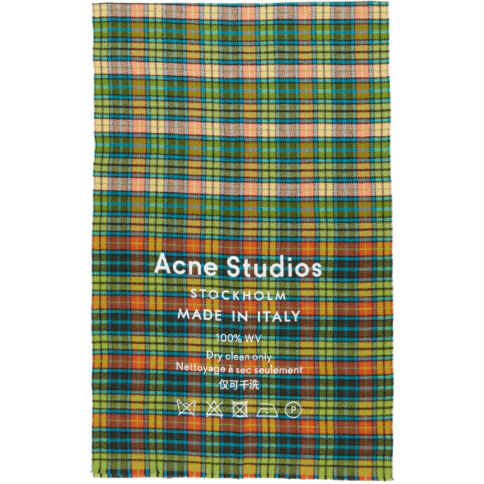 Acne Studios マルチカラー Cassiar チェック マフラー