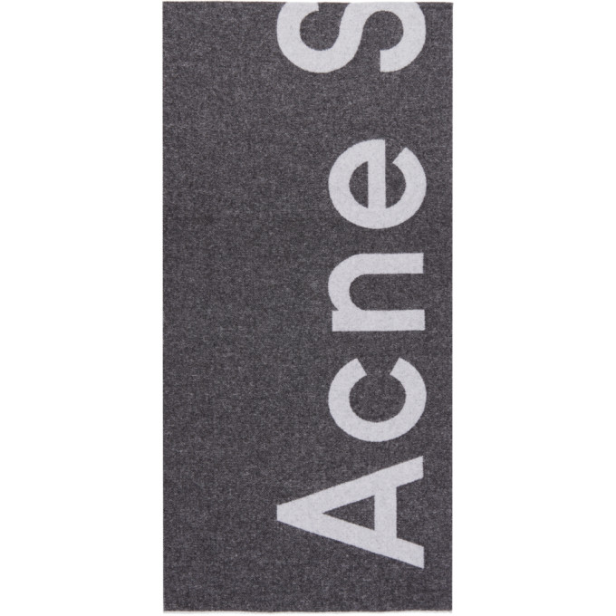Acne Studios Foulard a logo noir Toronty