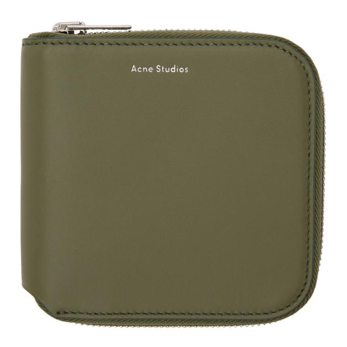 Acne Studios Green Small Csarite Wallet