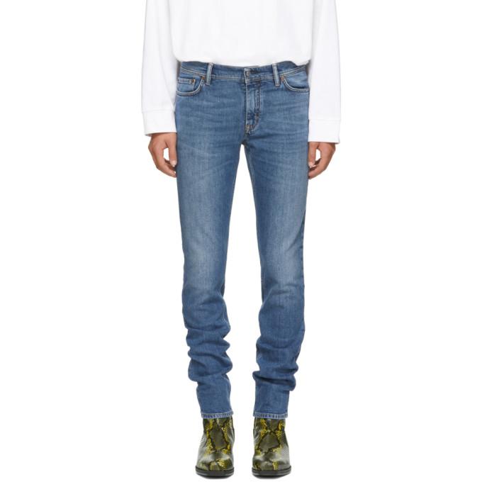 Acne Studios Blue Blå Konst North Jeans