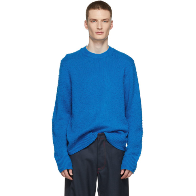 Peele Brushed Wool-Cashmere Sweater - Blue Size M