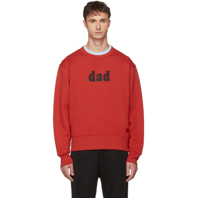 Acne Studios レッド Dad スウェットシャツ