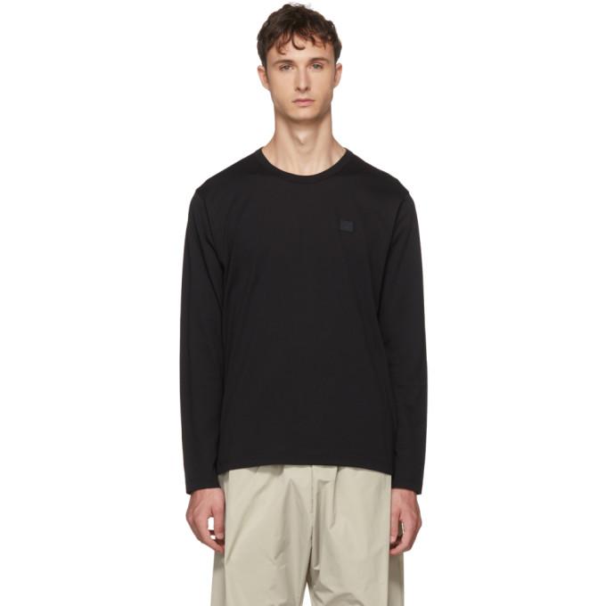 Acne Studios Black Long Sleeve Nash Face T-Shirt