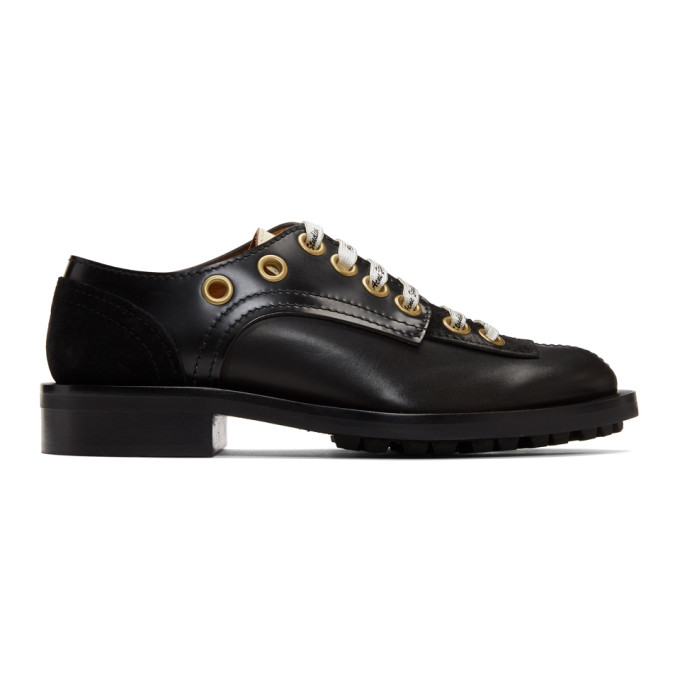 Acne Studios Black Lace-Up Derbys