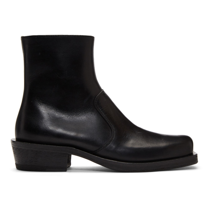 Acne Studios Black Leather Heeled Boots