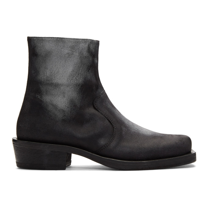 Acne Studios Black & White Leather Boots