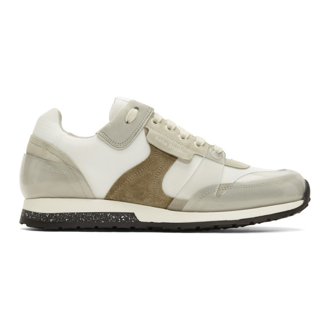 Acne Studios White Jimmy Label Sneakers