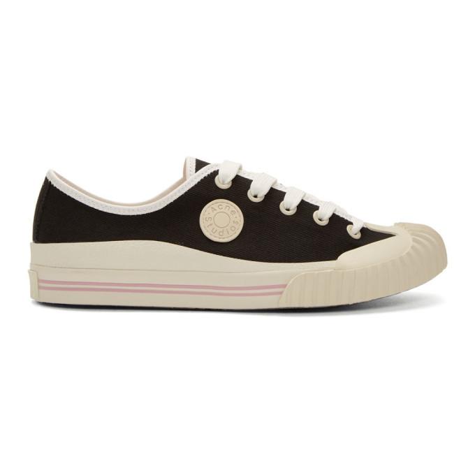 Acne Studios Black Blå Konst Tennis Sneakers