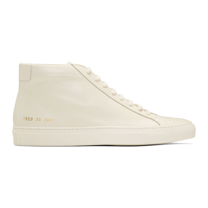 Common Projects White Original Achilles Mid Sneakers