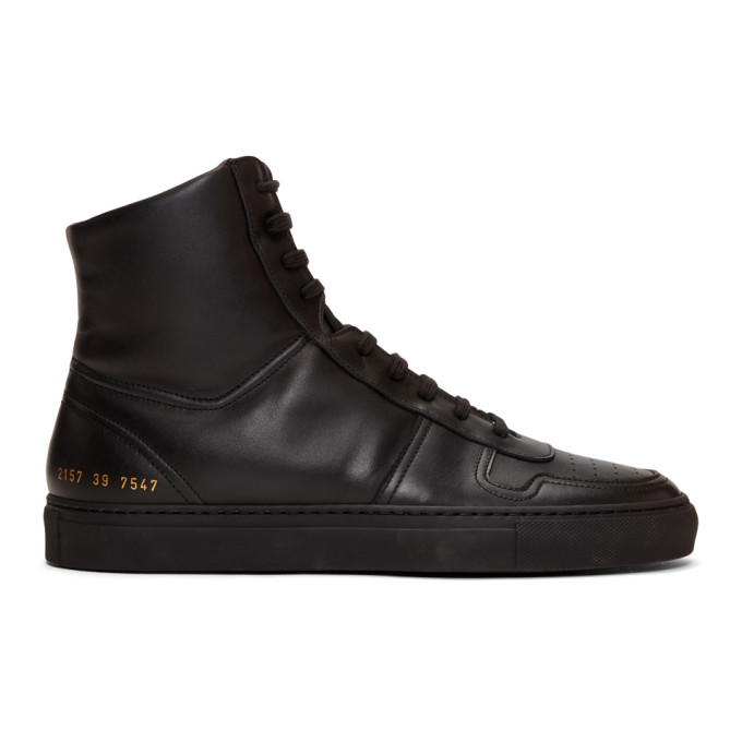 Common Projects Black BBall High Sneakers
