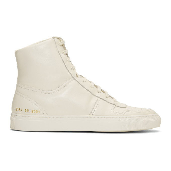 Common Projects White BBall High Sneakers