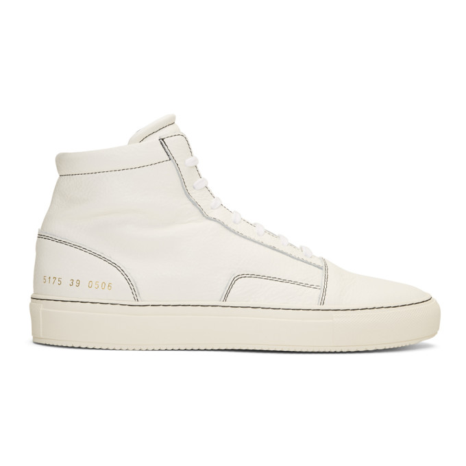 Common Projects White Skate Mid Sneakers