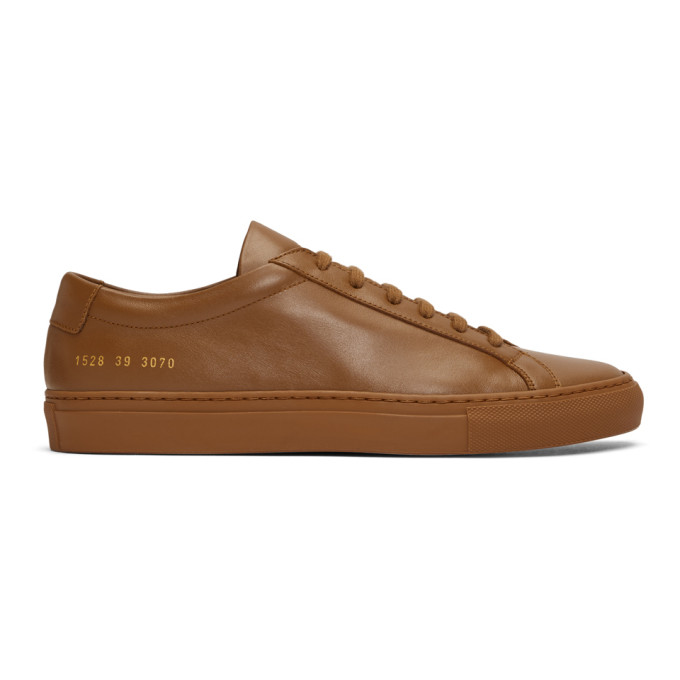 Common Projects Tan Original Achilles Low Sneakers