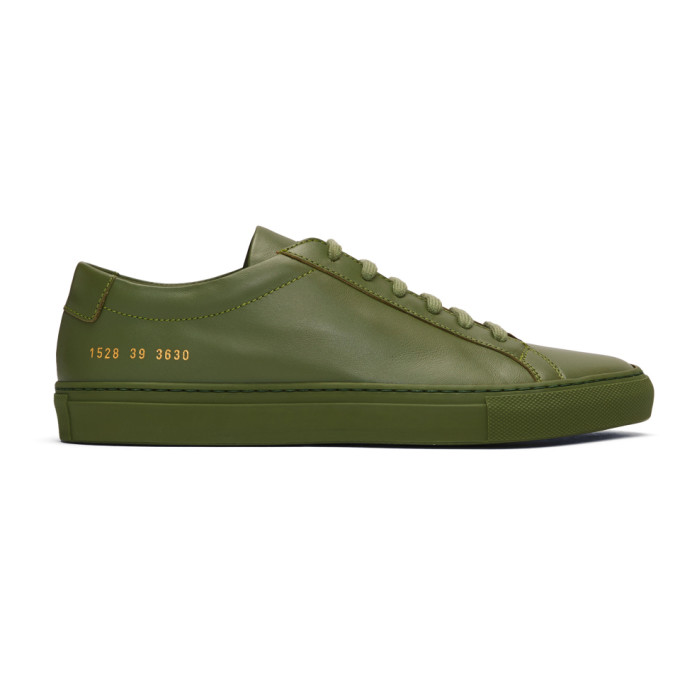 Common Projects Green Original Achilles Low Sneakers