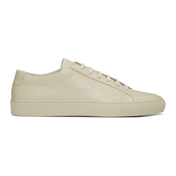 Common Projects Taupe Original Achilles Low Sneakers