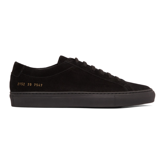 Common Projects Black Suede Achilles Low Sneakers
