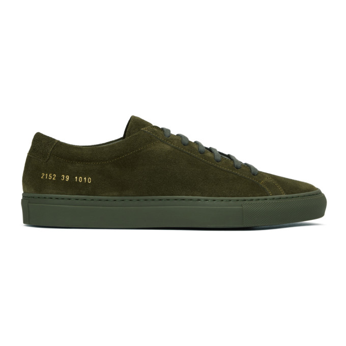 Common Projects Green Suede Original Achilles Low Sneakers