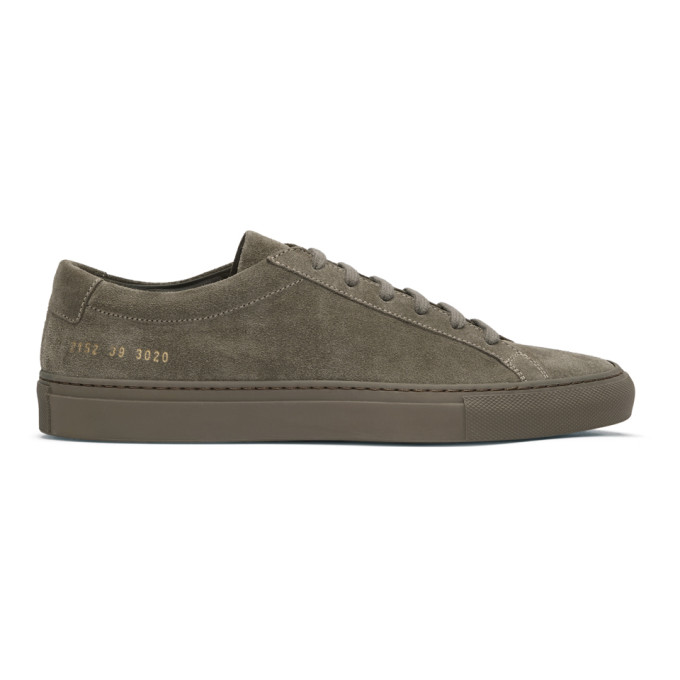 Common Projects Taupe Suede Original Achilles Low Sneakers