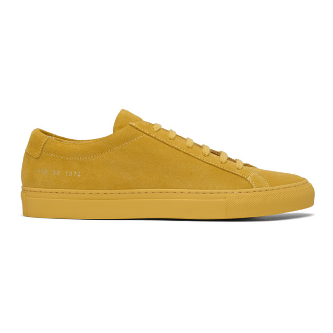 616db024f21ce Common Projects Yellow Suede Original Achilles Low Sneakers