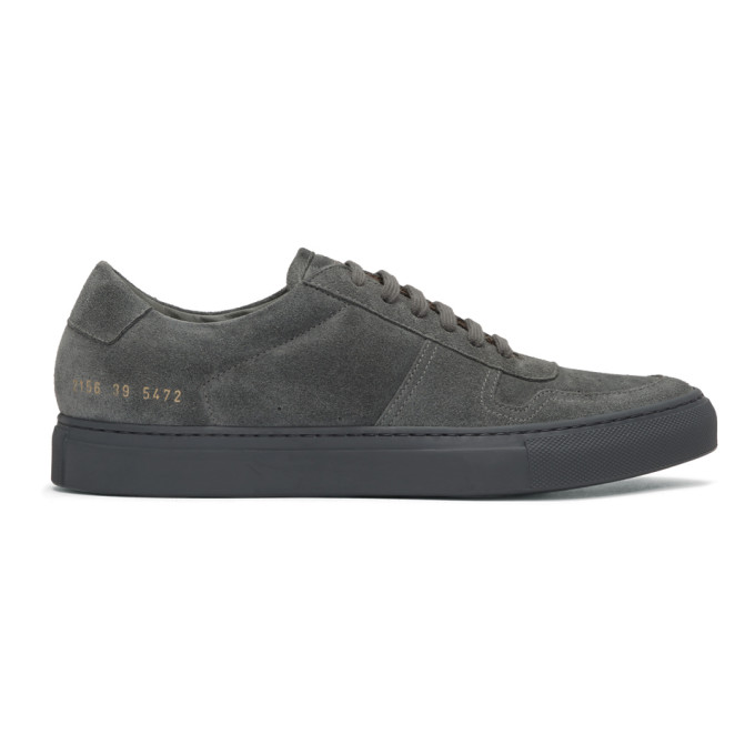 Common Projects Grey Suede BBall Low Sneakers