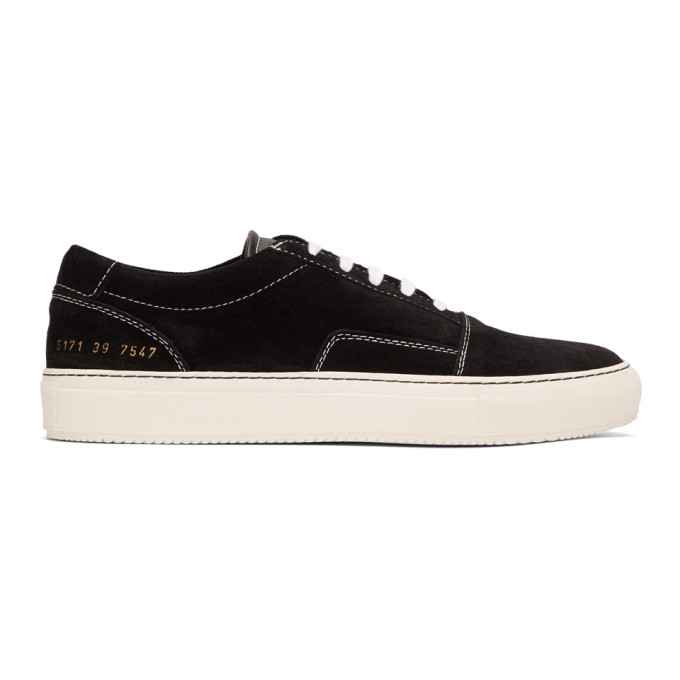 Common Projects Black Suede Skate Low Sneakers
