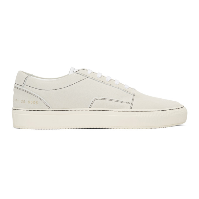Common Projects White Suede Skate Low Sneakers