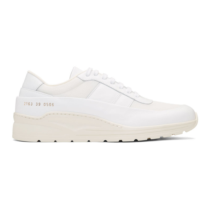 Common Projects White Track Super Low Sneakers