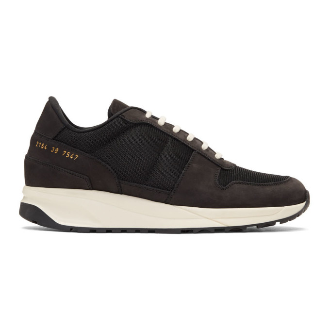 Common Projects Black Track Vintage Low Sneakers