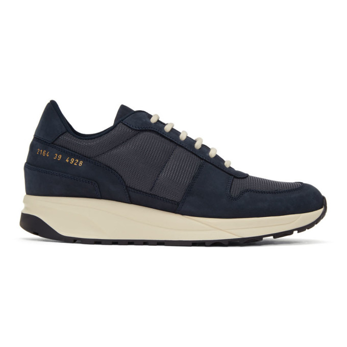 Common Projects Navy Track Vintage Sneakers