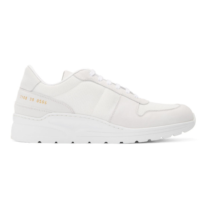 Common Projects White New Track Sneakers