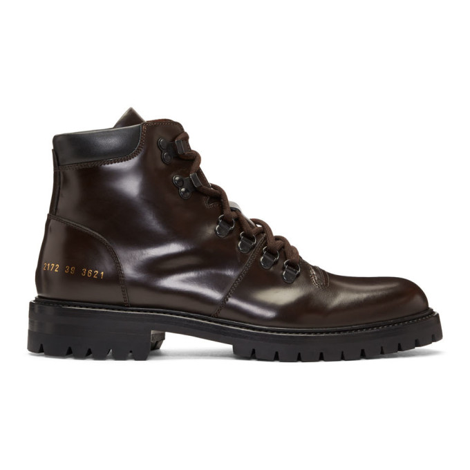 Common Projects Brown Hiking Boots