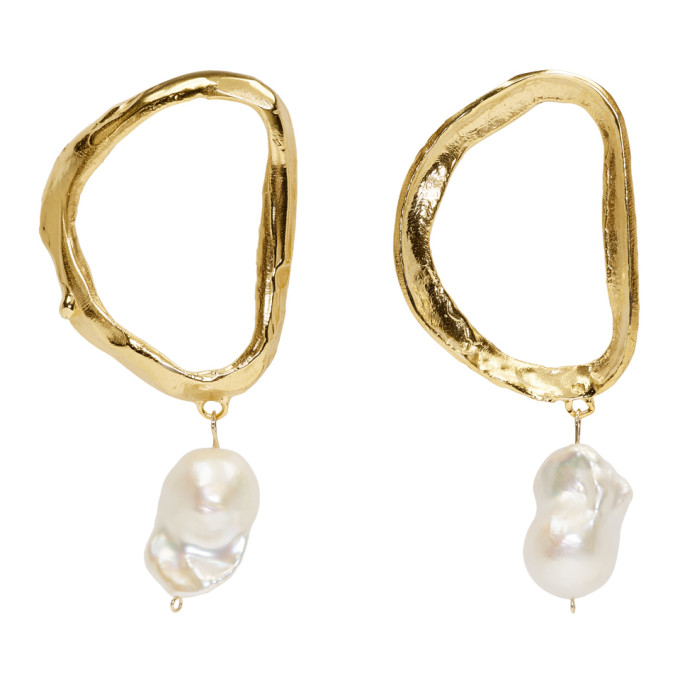 Image of Alighieri Gold Dante's Shadow Pearl Earrings