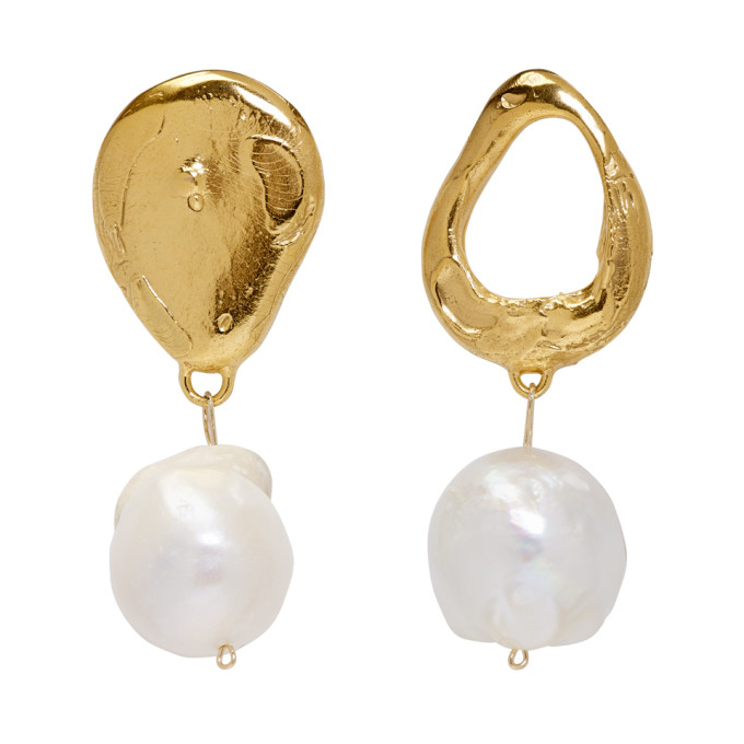 Image of Alighieri Gold The Infernal Storm Pearl Earrrings