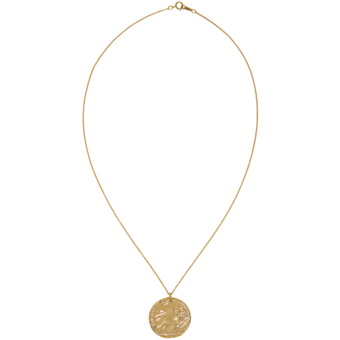 Image of Alighieri Gold Il Leone Coin Necklace