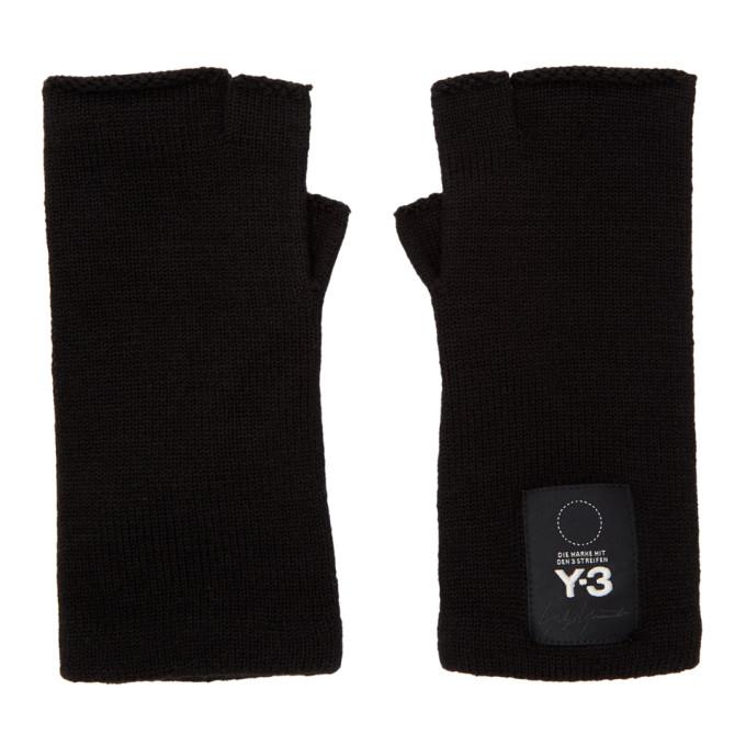 Y-3 - Logo Fingerless Gloves - Mens - Black
