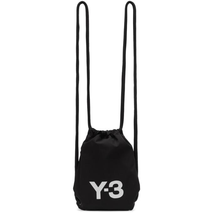 Y-3 Black Mini Gym Backpack
