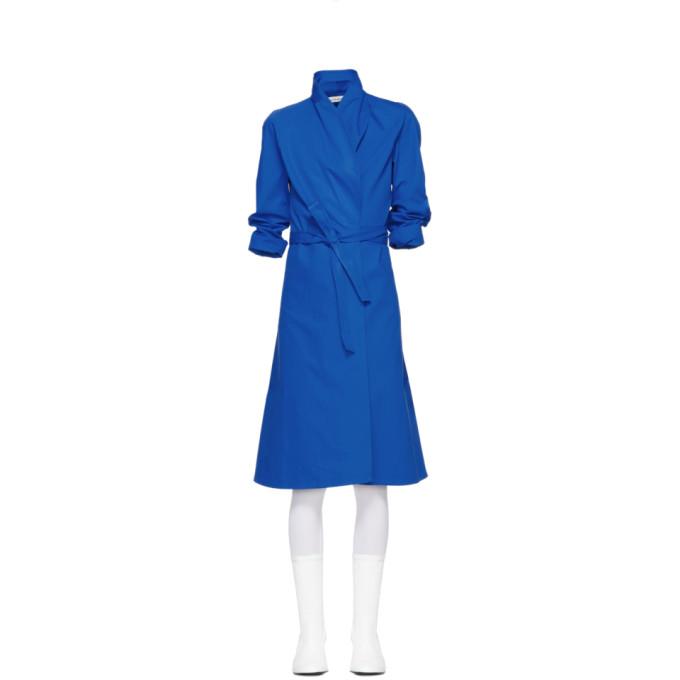 A_PLAN_APPLICATION A-Plan-Application Blue Directoire Wrap Dress